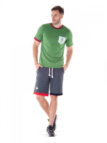 Carabus Pocket T-shirt (Green Melange)