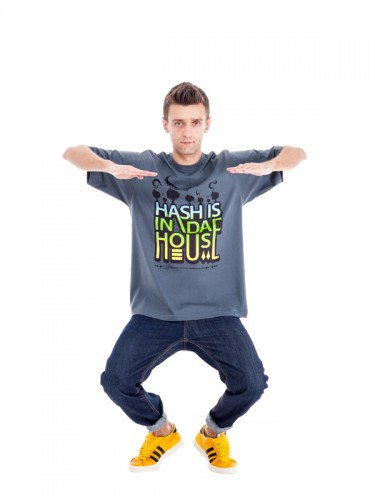 Hash In Da House T-shirt (Grey)